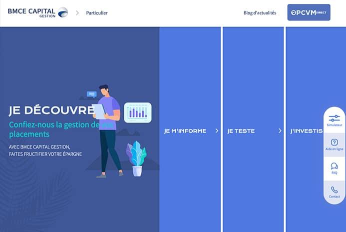 Développement du site web investisseur particulier de BMCE Capital